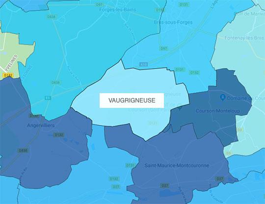 Carte d'éligibilité de la fibre à Vaugrigneuse